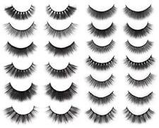 10 Pairs False Fake Eyelashes Handmade Natural Thick Thin Makeup Stocking Filler