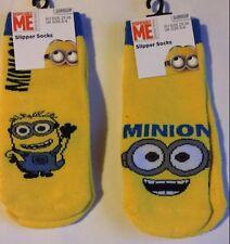 1 pair Child Yellow Minions Slipper Socks