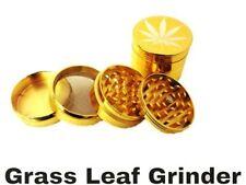 GOLD GRASSLEAF SHARP DIAMOND TEETH METAL MAGNETIC GRINDER 3 PART AND 4 PART