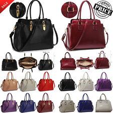 Ladies Tote Bag Shoulder Handbag Celebrity Style Women Designer Faux Leather Bag