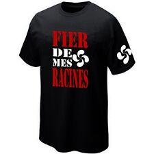 T-Shirt FIER DE MES RACINES PAYS BASQUE - Maillot ★★★★★★