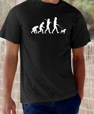 Evolution of Man Border Terrier Chien T-Shirt