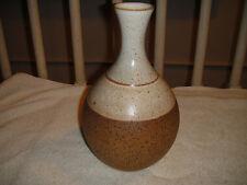 Iden Rye Pottery Vase Sussex England-Glazed & Stoneware-Brown & Beige