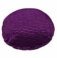 mp07n Blue Purple Folds Shimmer Velvet Round Cushion Cover/Pillow Case Customize