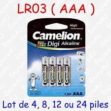 Pile Digi Alcaline AAA LR03 LR3 R3 MN2400 AM4 E92 UM4 1,5V ( x 4, 8, 12 ou 24 )
