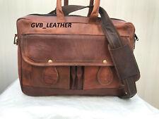 Mens Leather Messenger Laptop Shoulder Computer Case Shoulder Satchel Gift Men
