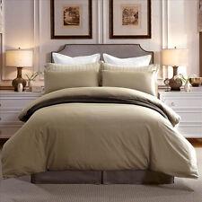New Premium 100% cotton 300TC Plain Taupe Colour Quilt Doona Duvet Cover Set