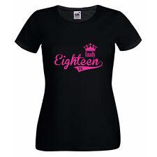 Damen T-Shirt - Finally Eighteen - Endlich 18 Original Jahrgang Erwachsen Party