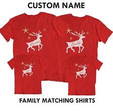 Family Christmas Matching T Shirts Pajamas Tees Reindeer Gift Shirt Personalized