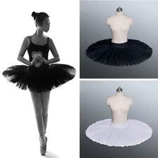 Lady Girl Black White Dance Ballet Practise Pancake Plateau Tutu Skirt Dancewear