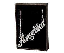 "Necklace With Name ""Anjelika"" - 18K Gold Plated | Personalised Czech Rhinestones"