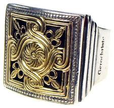 Gerochristo 2236 ~ Solid 18K Gold & Sterling Silver Medieval-Byzantine Ring