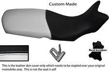 Blanco Y Negro Personalizado Para Bmw F 650 F 800 Gs 08-12 real de piel cubierta de asiento