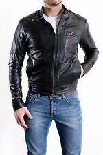 ★Giacca Giubbotto Uomo in di PELLE 100% Men Leather Jacket Veste Homme Cuir e3ac