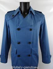 AQUASCUTUM Blue WHITTINGTON Short Rain Trench Coat 42 R BNWT rrp £595