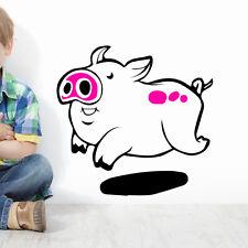 Cochon Autocollant Mural Décoration ferme agriculteur crèche d'enfants animaux
