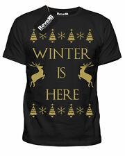 Da Uomo G O T inverno è qui Natale Natale T-shirt tee NUOVA S-XXL