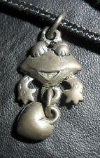 Vintage Pewter? Metal Frog & Heart Charm Pendant How Cute Look! H