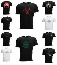 Weed T-shirt Ganja 420 THC Hand Rap Style Short Slee Designer Fashion Leaf Weed