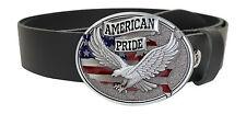 Buckle Gürtelschnalle  Koppel USA Adler Eagle American Pride 2  mit Gürtel Belt