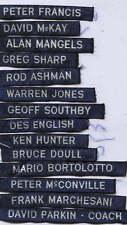 AFL CARLTON  FOOTBALL CLUB   DUFFLE COAT NAME TAGS   Number 2 List