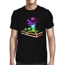 1Tee Mens Rainbow DJ Cat T-Shirt