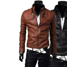 US Men Leather Jacket Hommes veste cuir Herren Lederjacke chaqueta cuero M12pp3