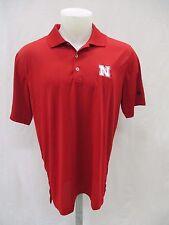 Nebraska Cornhuskers Men M L 2XL Puremotion adidas Polo Shirt  Red NCAA A11MR