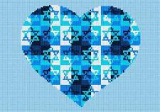 Heart Jewish Star Needlepoint Kit or Canvas (Judaica)
