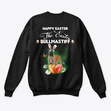 Bullmastiff Dog Happy Easter Day Hanes Unisex Crewneck Sweatshirt
