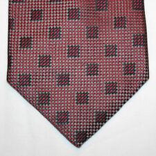 NEW Bruno Pirttelli Silk Neck Tie Burgundu and Gray with Black Pattern 998