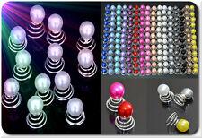 Set 6 oder 12 Curlies Haarspiralen Perlen Haarnadeln 19 Farben  Braut Kommunion