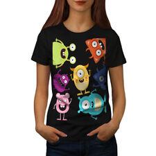 Monster Cute Design Funny Women T-shirt S-2XL NEW | Wellcoda