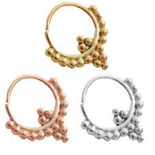 16G 1Pc Nose Ring Tribal Collar Beaded Hanging Piercing Body Jewelry Septum Hoop