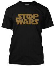Nueva parada guerras Star parodia de prohibición de la bomba símbolo de la paz con el logotipo Para Hombre Camiseta Negra