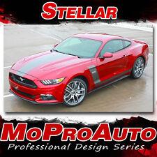 STELLAR 2015-2017 Ford Mustang GT Racing Hood Stripes Side Door Kit 3M Pro Vinyl