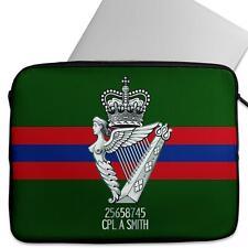 Personalised Laptop Sleeve ROYAL IRISH REGIMENT Neoprene Case Army MC42
