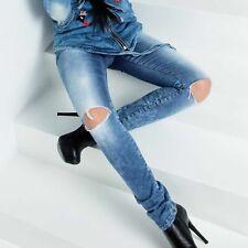 BY ALINA Damenjeans Jeans DamenhoseBoyfriend Crashlook Hüftjeans  34-38 #B441