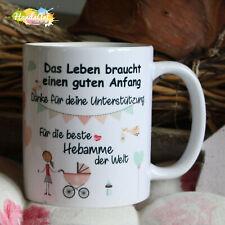 Beste Hebamme Tasse Geburt Baby Geschenk Weihnachten Muttertag Mädchen