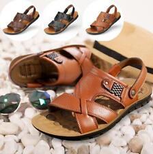 Men's Leather Sandal Fisherman Handmade Beach Slippers Flat Summer Shoes Outdoor