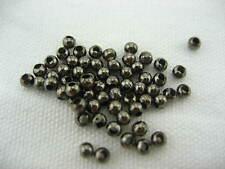 2,4 mm de metal Metálico espaciador granos para la fabricación de joyas hágalo usted mismo Pulsera Cuentas Redondas *