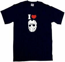 I Heart Love Jason Hockey Mask Kids Tee Shirt Pick Size & Color 2T - XL