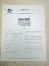 GE Service Manual~P1983/A AM-FM Radio Receiver~Original~General Electric