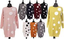 New Italian Ladies Macchia Spot Polka Dots Top Dress One Size 12 14 16 18 20