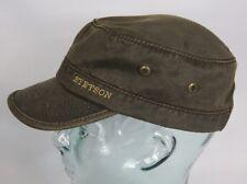 STETSON DATTO co/pe Army Cap Kuba Mütze Basecap Braun used look 7491102 Neu