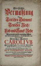 1742 Barock Rede, Karl VII., St. Emmeram in Regensburg