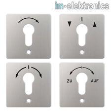 Front Platte f. geba Schlüsselschalter Schlüsseltaster M-APZ / MS-APZ / MR 1T 2T