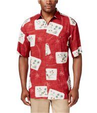 Campia Moda Mens Postcard Tropical Button Up Shirt