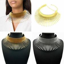 Collar de joyería de africana Vintage Metálico Bobina Ajustable Gargantilla Collar Maxi caliente