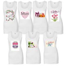 mujer día de la Madre Camiseta sin mangas para Top Algodón Estampado Casual
